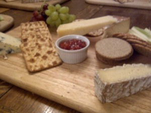 Cheese platter at Trafalgar Night at Glasgow University Naval Unit